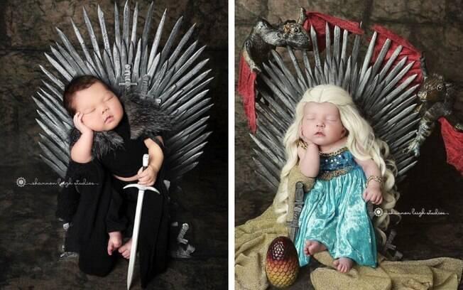 O marido da fotógrafa também criou um trono de ferro para deixar as imagens ainda mais realistas