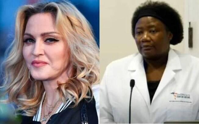 Madonna e a médica Stella Immanuel