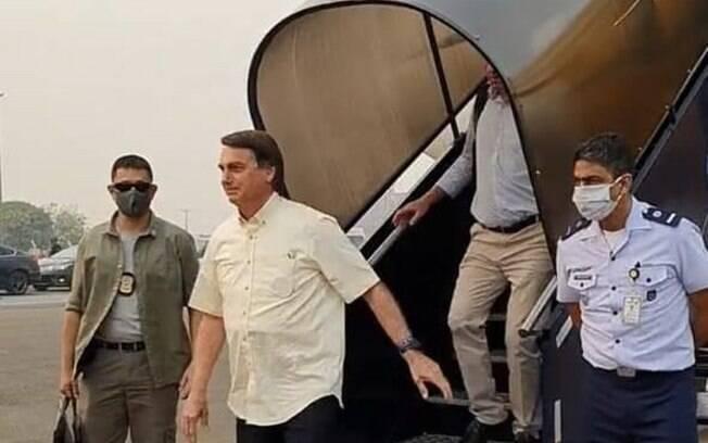 O presidente Jair Bolsonaro está em Mato Grosso