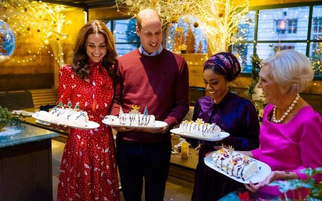 Kate Middleton e Príncipe William no especial de fim de ano de Mary Berry