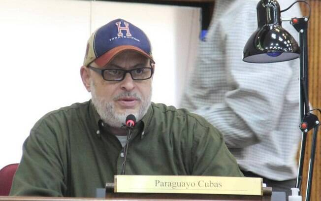 Paraguayo Cubas no Senado do Paraguai.
