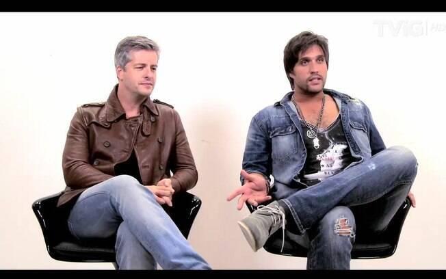 Victor e Leo no estúdio do iG