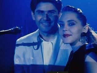 César Filho e Isabela Garcia no 'Globo de Ouro', na década de 1980