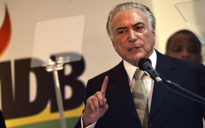 O vice-presidente, Michel Temer: ele não se encontrava com Dilma desde divulgação da carta