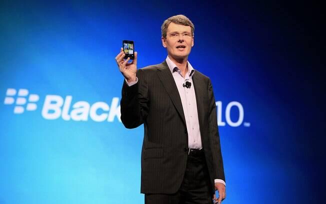Heins e o novo BlackBerry: teclado físico será mantido