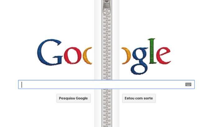 Novo doodle na página de busca homenageia inventor do zíper