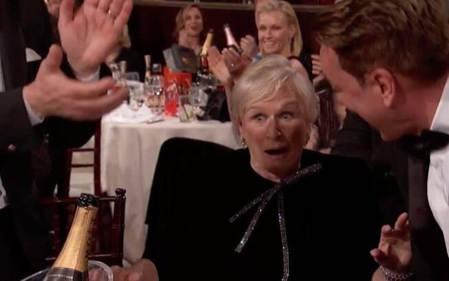 Glenn Close genuinamente surpresa ao vencer como melhor atriz dramática no Globo de Ouro