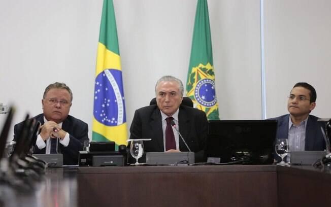 Michel Temer, fez declaração sobre a operação Carne Fraca após reunir-se com Blairo Maggi e Marcos Pereira