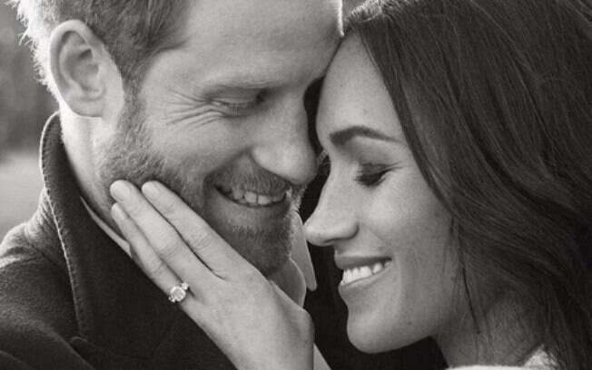 Príncipe Harry e sua futura esposa Meghan Markle