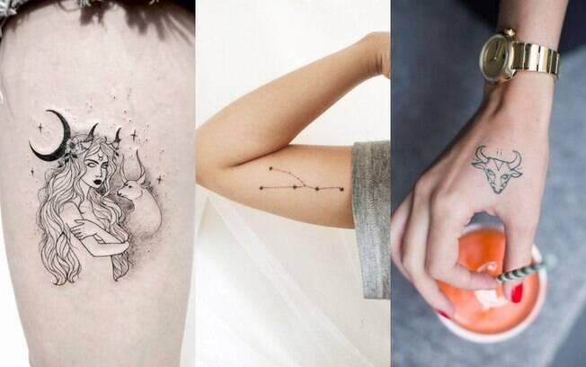 ideias de tatuagens representando o signo de touro