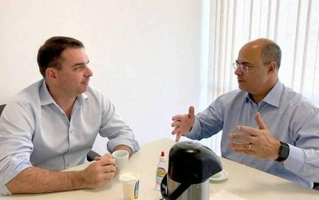 Flávio Bolsonaro e Wilson Witzel