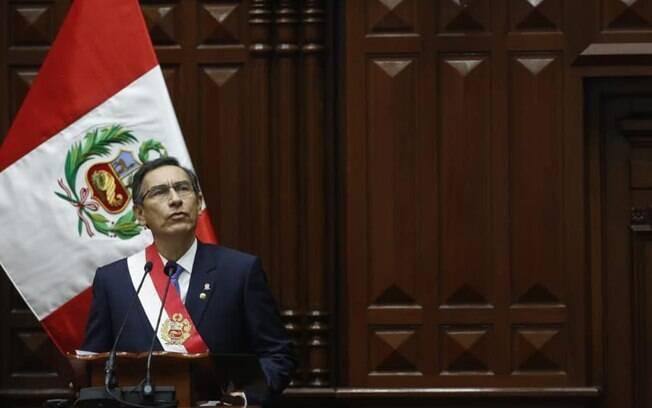 Matrín Vizcarra assumiu a presidência do Peru em 2018, após a renúncia de Pedro Pablo Kuczynski