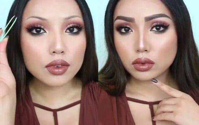A blogueira Promise Tamang publicou um vídeo tutorial ensinando o truque para definir as sobrancelhas com a pinça e gel
