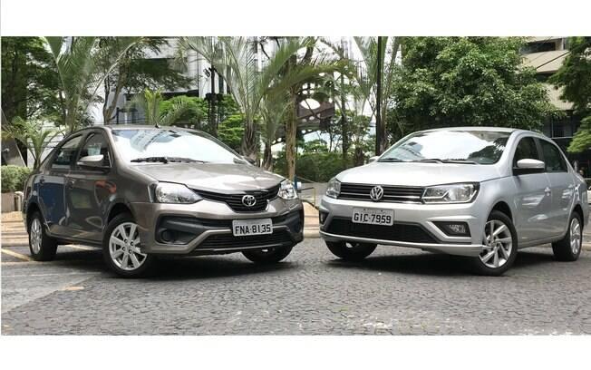 VW Voyage automático e Toyota Etios Sedan 1.5 estão entre as melhores e poucas opções do segmento no Brasil