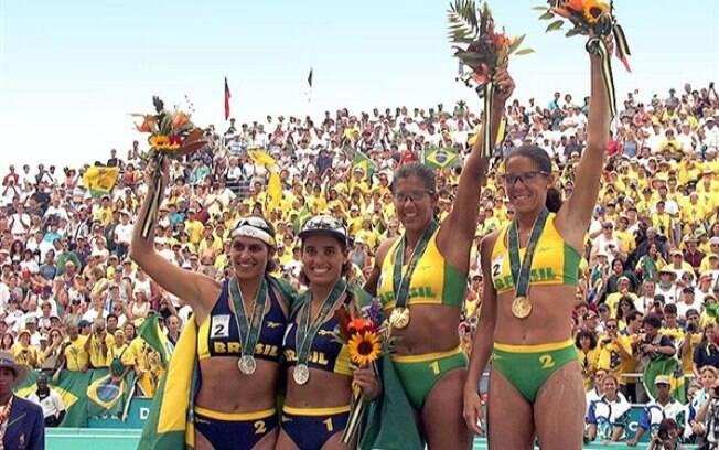 Brasil dominou o pódio no vôlei de praia em Atlanta