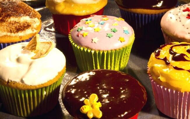 Foto da receita Muffin de banana coberto de chocolate ou de creamcheese de limão pronta.