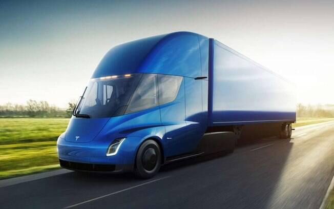 Tesla Semi: um dos caminhões mais modernos do mundo. Além de ser autônomo é elétrico e tem desenho aerodinâmico