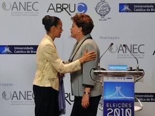 O senador Aécio Neves ficaria em terceiro lugar com 10% das intenções de voto