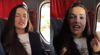 Juliette passa susto em voo e teme acidente: