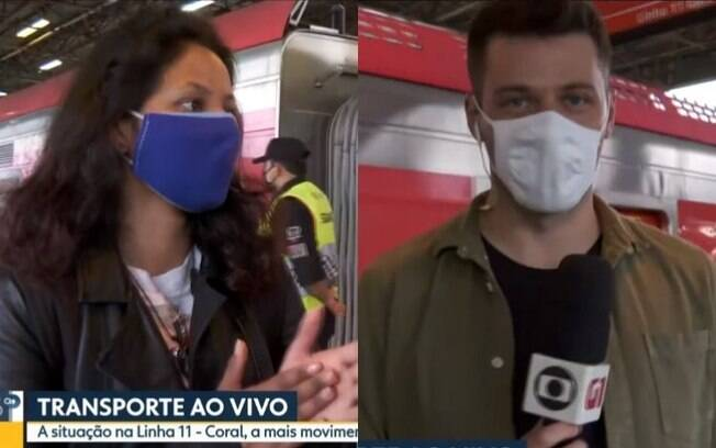 Repórter Globo foi pego de surpresa com a sinceridade da Jaque