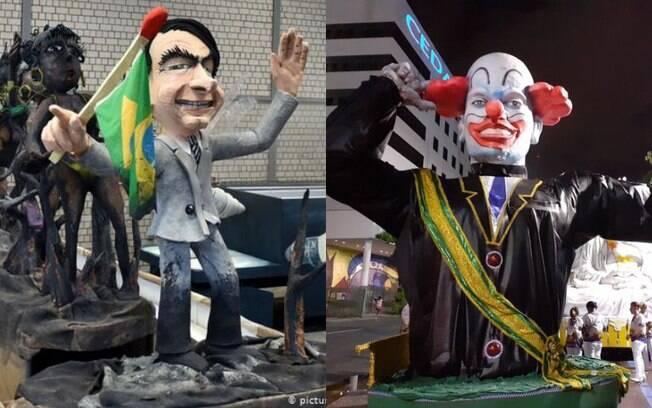 Jair Bolsonaro foi tema de blocos e carros alegóricos no Carnaval