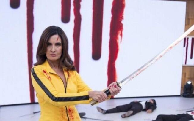 Fátima Bernardes como Mamba Negra na paródia de Kill Bill