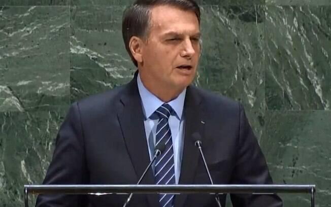 Discurso de Jair Bolsonaro foi previsível e presidente brasileiro manteve a rusga com o presidente francês  Emmanuel Macron