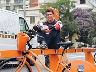 Utilidade. Ao chegar a Belo horizonte, em 2013, argentino Emiliano usou internet para alugar bike