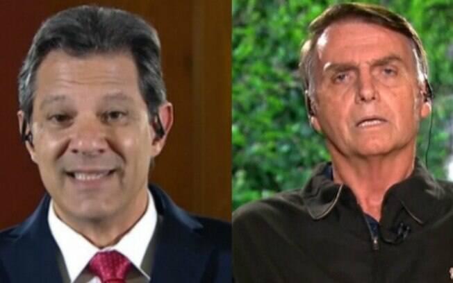 Jair Bolsonaro (PSL) e Fernando Haddad (PT) estão no segundo turno para a Presidência e falaram ao Jornal Nacional