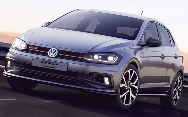O VW Polo GTS terá acentuações em LED de série nos faróis dianteiros