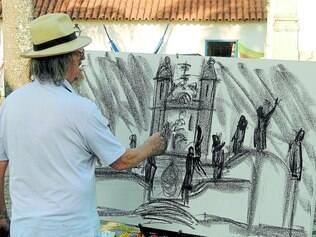 Dois meses. Foi o tempo gasto pelo artista Carlos Bracher para produzir a série de quadros e telas inspirados em Aleijadinho e sua obra