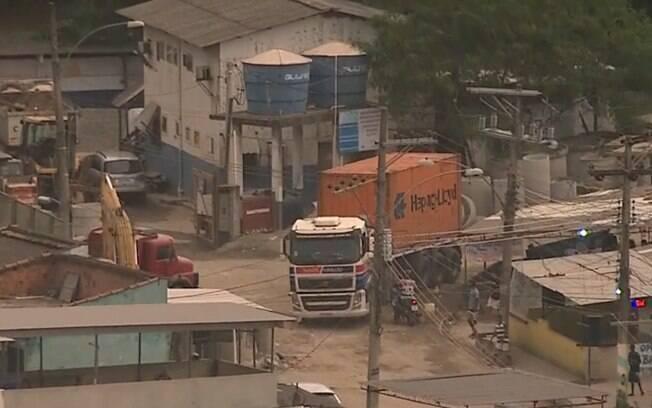 Caminhão foi localizado por empresário minutos após o roubo