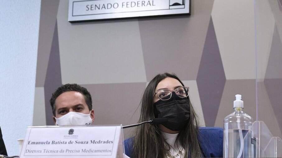 Emanuela Medrades depõe no Senado