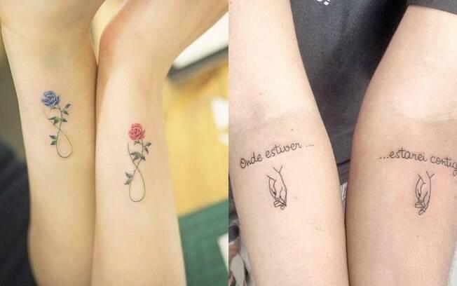 Na hora de homenagear filhos mais velhos com tatuagem, as mães e pais podem convidá-los para uma tattoo conjunta
