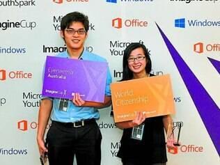 Jarrel Seah e Jennifer Tang são da equipe que criou o Eyenaemia