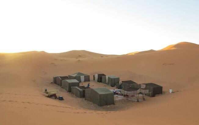 Tendas berberes no deserto são uma opção diferente - e promissora -, até mesmo para uma lista de casas exóticas