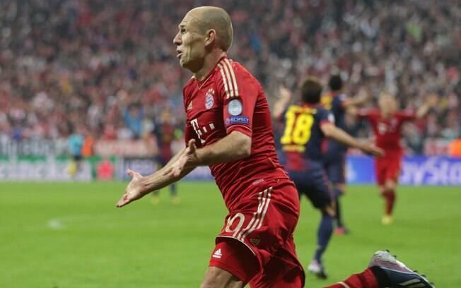 Robben faz o terceiro gol do Bayern sobre o  Barcelona