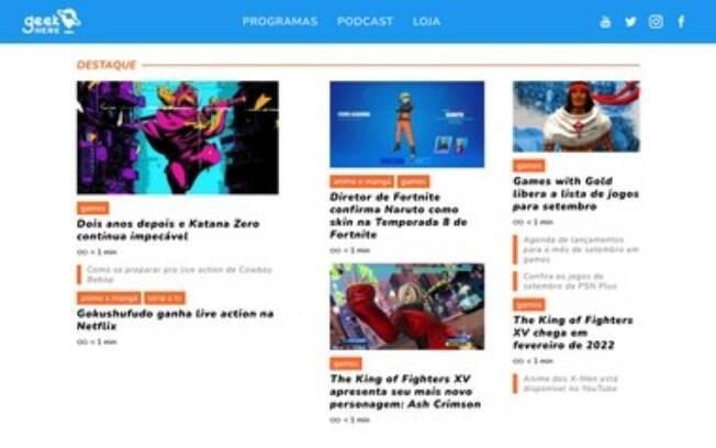Geek Here estreia como o maior hub do Brasil dedicado ao universo geek