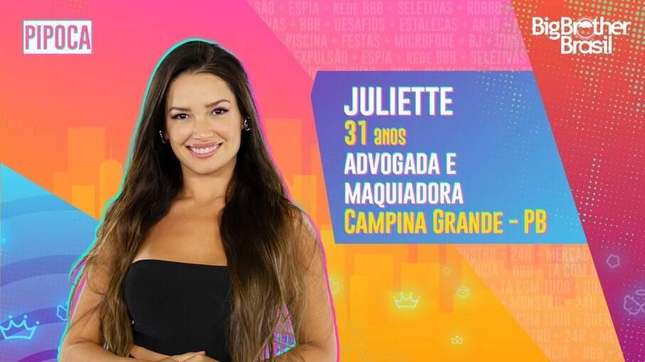 Com o sonho de ser delegada, Juliette está no BBB21