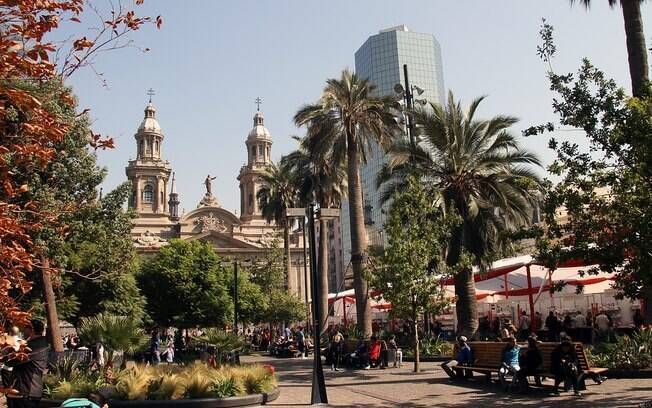Fotografia da capital do Chile, Santiago.