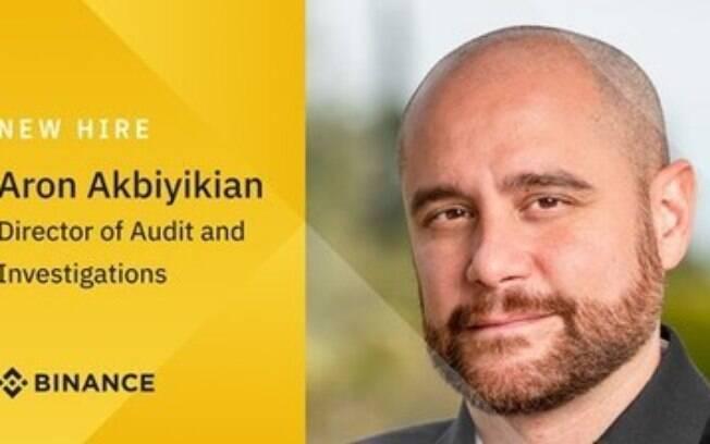 Binance dá boas-vindas ao novo diretor de auditoria e investigações Aron Akbiyikian