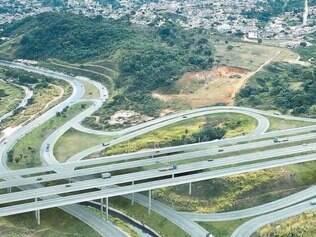 Perspectiva de como vai ficar trecho da rodovia próximo a Betim