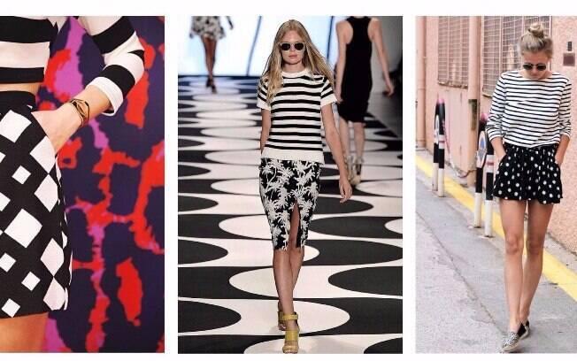 As estampas em Preto e Branco são ótimas escolhas para quem quer aderir a moda mas tem medo de errar