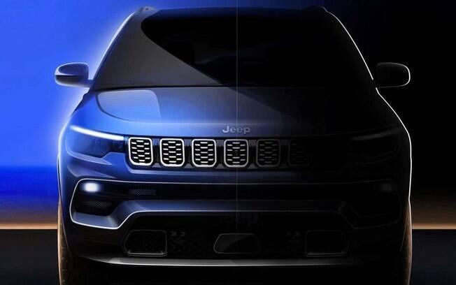 Jeep Compass 2022 estreia nova grade frontai e para-choque dianteiro; veja os detalhes