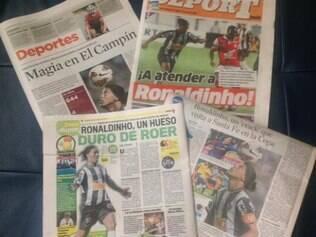 Ronaldinho: imagem explorada para chamar a atenção para o duelo entre Santa Fe x Galo