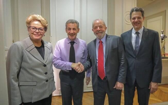 Dilma, Lula e Haddad estiveram em Paris na última semana