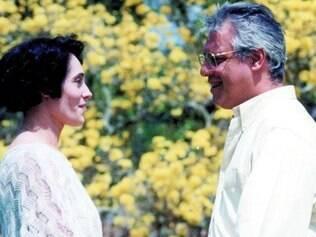 """Casal. Christiane Torloni e Antonio Fagundes formaram um par romântico no remake de """"A Viagem"""""""