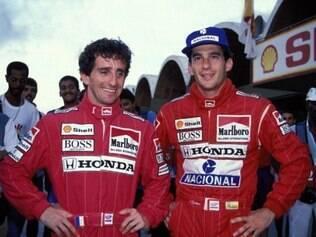 Alain Prost e Ayrton Senna conquistaram vários títulos com a McLaren