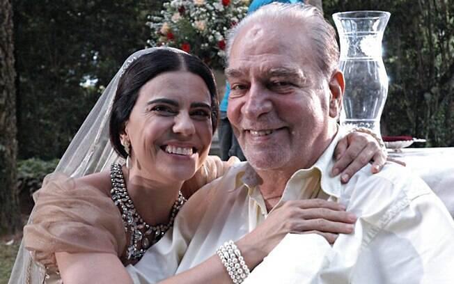 Mayara Magri e Herval Rossano durante as gravações de