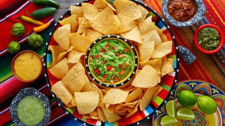 A guacamole é um dos pratos mais populares da culinária mexicana